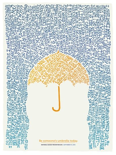 Be someone's umbrella today... and when you need to, let yourself be sheltered under someone else's. <3