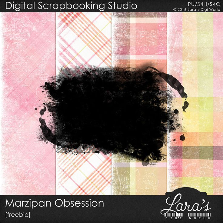 Lara´s Digi World - Digital Scrapbooking Designs: Marzipan Obsession Freebie