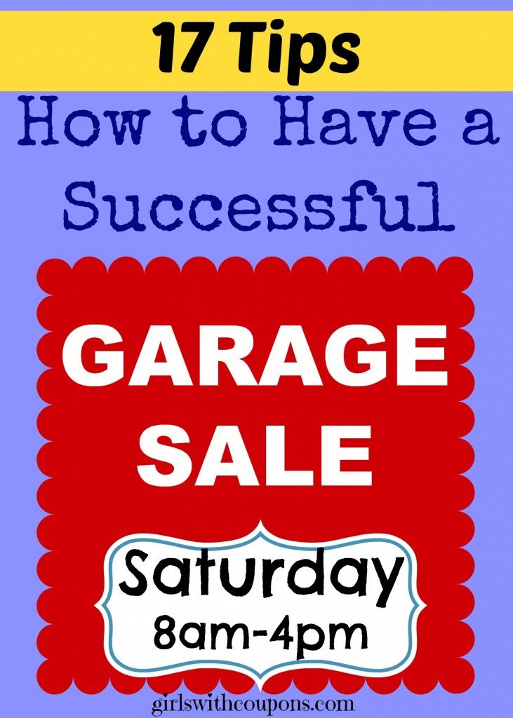 17 Tips – How to Have a #Successful Garage #Sale! These tips have served me well over the years after having countless #garage sales for my family, friends, neighbors and even #estate sales! If I never sold anything, I'd go out of my mind with all the stuff 5 kids can end up with. Click to check out my tips here: http://www.girlswithcoupons.com/seventeen-tips-on-how-to-have-a-successful-garage-sale/ #YardSale