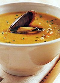 Curried Mussel Soup with Potatoes