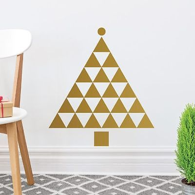 NEW Campfire Graphics Golden Triangles Christmas Tree Wall Decal