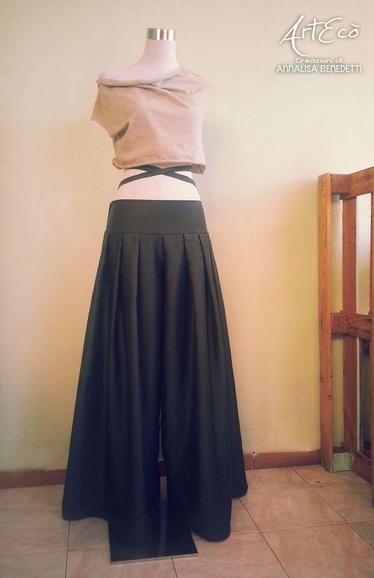ECO FASHION: Top Cotone Bio e Pantalone Canapa-Cotone | ArtEcò Creazioni di Annalisa Benedetti
