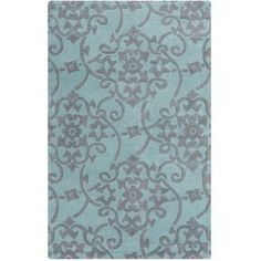 Savoy Teal and Gray Rug