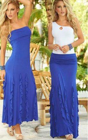 Long Blue Convertible Dress/Skirt Very pretty!