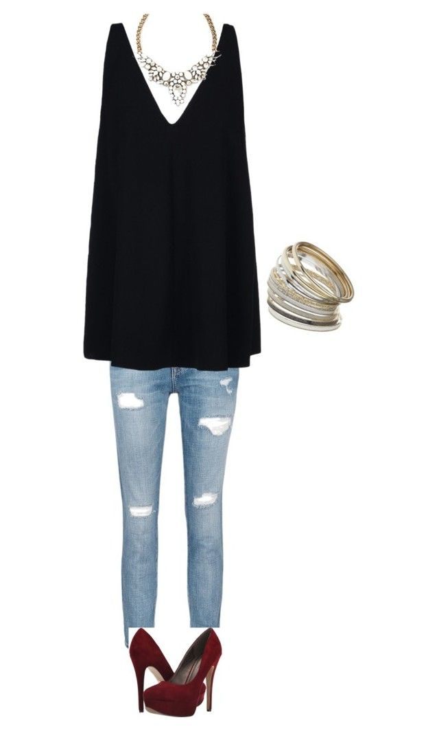 """""""Casual dinner outfit"""" by nakia-lafournaise on Polyvore featuring Current/Elliott, STELLA McCARTNEY, Michael Antonio and Miss Selfridge"""