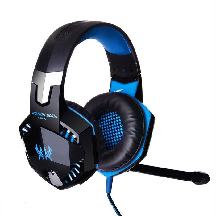 KOTION EACH G2000 Headband Game Headset Headphone w/ Mic, Stereo, Bass, LED Light for PC