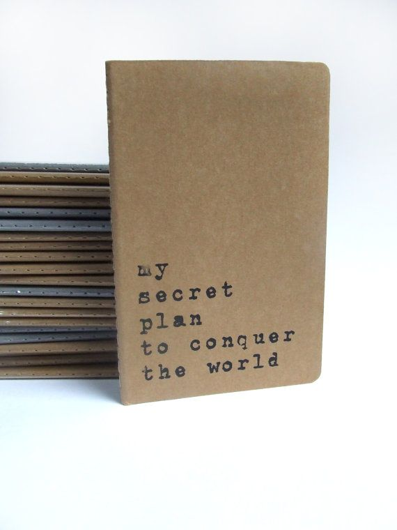 Moleskine notebook with recycled hand screened by Alfamarama, £5.00