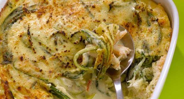 Gratin de courgettes au crabeVoir la recette du Gratin de courgettes au crabe…