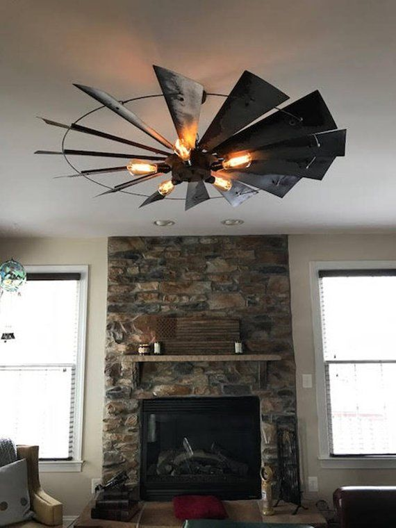 Rustic Windmill Light Fixture Windmill Chandelier Rustic Chandelier Dining Light Fixture Rustic Light Fixtures Dining Light Fixtures Living Room Light Fixtures