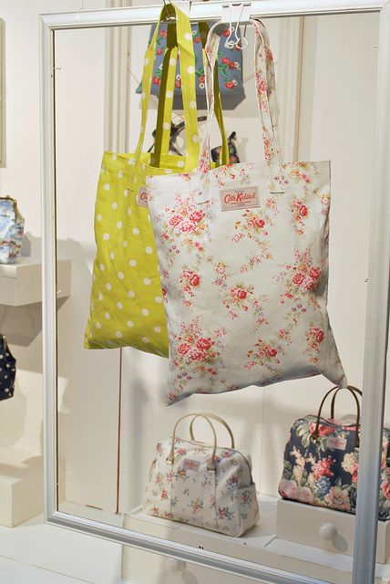 Cath Kidston, London / seen these bags in Paris years ago and finally found the designer! Now I'm obsessed