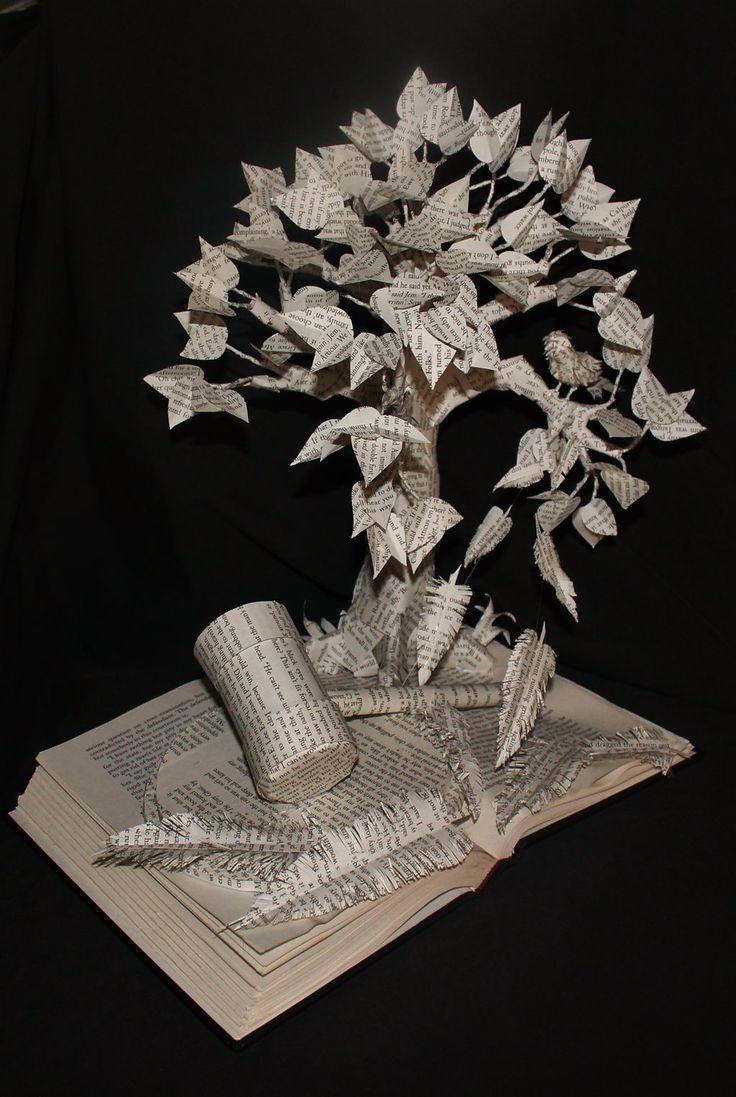 Kill mockingbird scrapbook ideas - To Kill A Mockingbird Book Sculpture Google Search