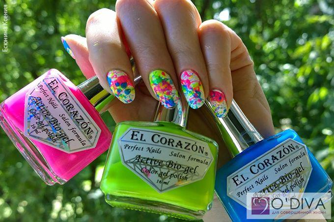 Дизайн ногтей брызгами. Обзор лаков MILV и EL Corazon. Есюнина Ксения.  Посмотреть мастер-класс: http://odiva.ru/news/interesting/nail_design_spray_overview_of_varnishes_milv_and_el_corazon_esenina_ksenia/  #одива #odiva #идеиманикюра #ногти #материалыдлядизайнаногтей #маникюр #manicure #naildesign #nailart #fashion #nail #nails #elcorazon #milv #елкоразон #милв #неоновыелаки #лакдляногтей #лакдляногтейmilv #лакдляногтеймилв #брызгинаногтях