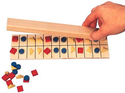 jeu en bois de mémoire visuelle