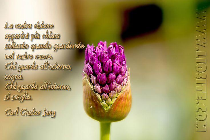 Carl Gustav Jung - La vostra visione.. La vostra visione apparirà più chiara soltanto quando guarderete nel vostro cuore. Chi guarda all'esterno, sogna. Chi guarda all'interno, si sveglia. Carl Gustav Jung #Jung, #cuore, #sogno, #capire, #liosite, #citazioniItaliane, #frasibelle, #sensodellavita, #ItalianQuotes, #perledisaggezza, #perledacondividere, #GraphTag, #ImmaginiParlanti, #citazionifotografiche,