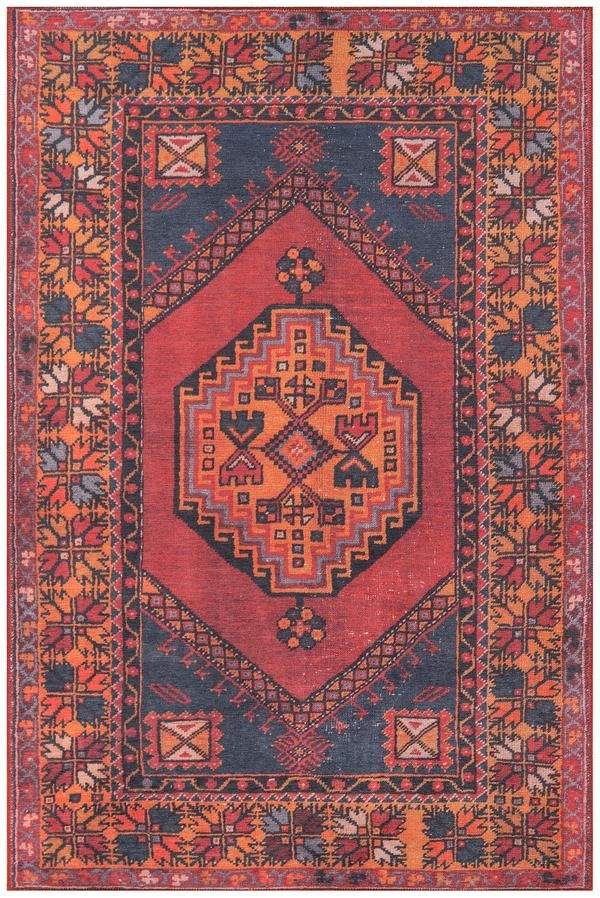 Red Orange Southwest Boho Rug The Afshar Collection Features Old