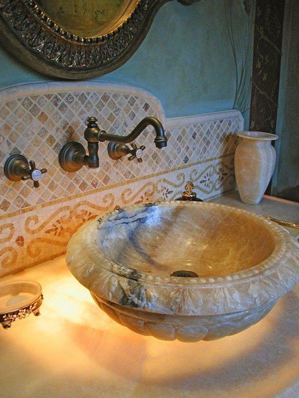 Mediterranean Bathroom Backsplash Ideas
