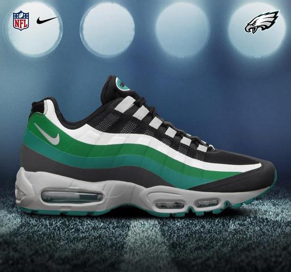 NIKE AIR MAX 95 NO-SEW – 2012 NFL DRAFT PACK Eagles