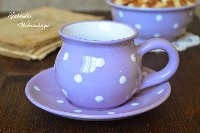 Magyar kézműves kerámia (csupor és alátét tányérka)