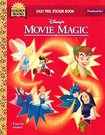 Disney Movie Magic Sticker Coloring Book Golden Books 1995