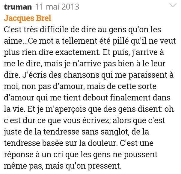L'amour Jacques Brel