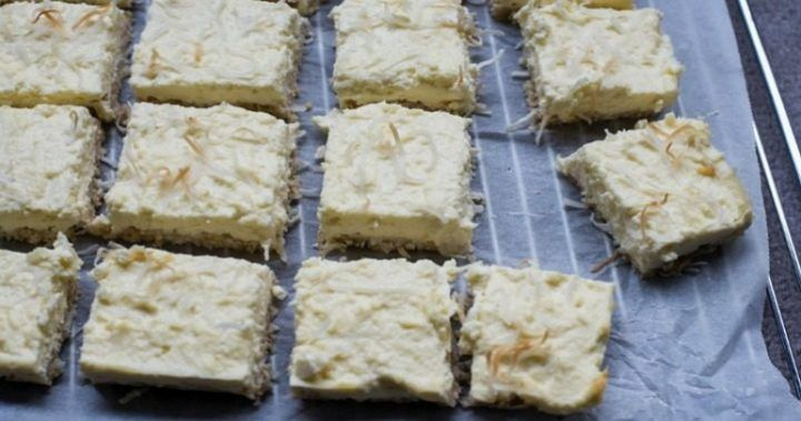 Gluten-free lemon and coconut slice | Starts at 60