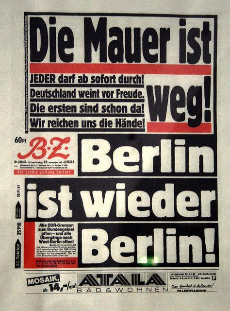 Heute vor 20 Jahren fiel die Berliner Mauer. Der Weg in die Freiheit war frei. | goldenbembel | Flickr