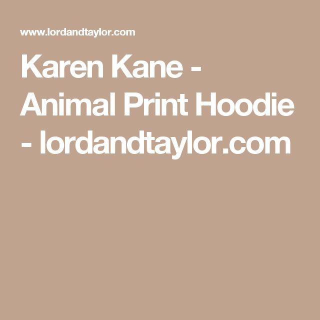 Karen Kane - Animal Print Hoodie - lordandtaylor.com