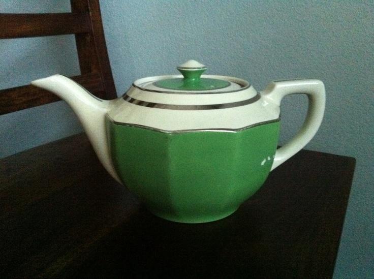 Vintage Art Deco Hallu0027s Kitchenware Teapot