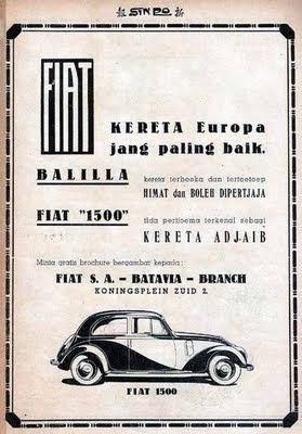 Indonesian Old Commercials: FIAT, KERETA Europa jang paling baik.