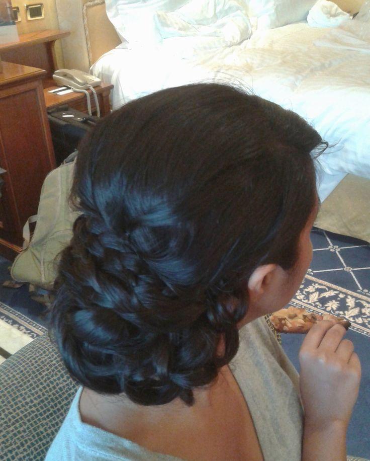 braided hairstyle by Janita Helova, Rome / Italy  http://janitahelova.wix.com/janita-helova