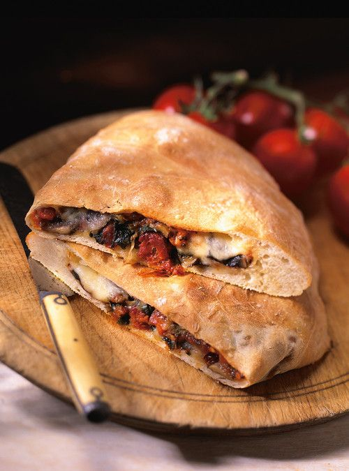Vegetable and Calabrese Salami Calzone