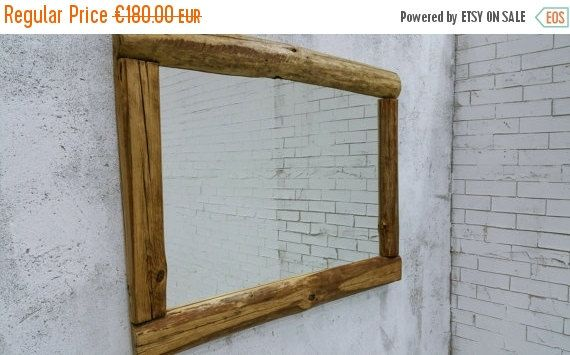 reclaimed wood mirror rustic mirror  29x40'' wall by MakeInWood