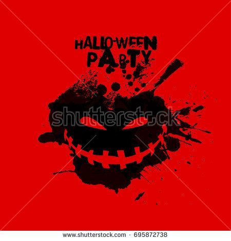 Abstract Template with Clean Minimal Style. Modern Graphic/Design Elements. Halloween Layout/Design Cover Background