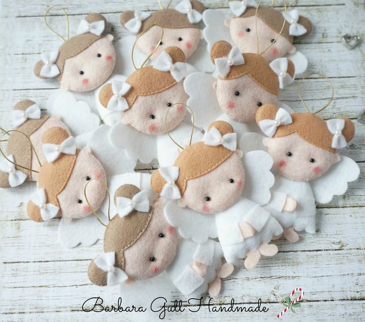 Barbara Handmade...: Aniołki na choinkę / Angels for Christmas tree