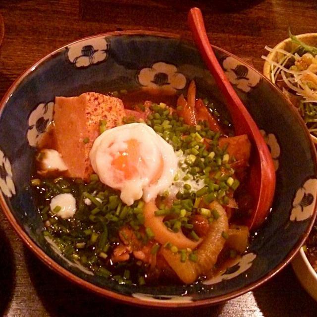 賄い飯♪ 大山鶏のすき焼き風煮込み、マグロユッケ、秋刀魚焼き ほぐし身大根おろし、サラダ、味噌汁、雑穀飯。 美味しゅうございました。( ・∇・) - 39件のもぐもぐ - 賄い飯♪ 大山鶏のすき焼き風 煮込み、マグロユッケ、 by Gauchesuzuki