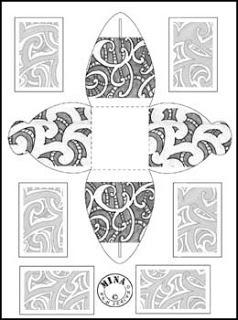 Maori Gift Box to Colour #2