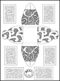 Maori Gift Box to Colour #2