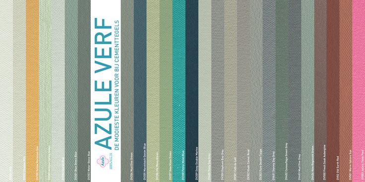 New! Azule paint. Match with Azule Tiles! www.designtegels.nl
