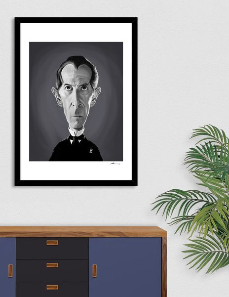 Discover «Peter Cushing», Numbered Edition Fine Art Print by rob art | illustration - From $19 - art | decor | wall art | inspiration | caricature | home decor | idea | humor | gifts