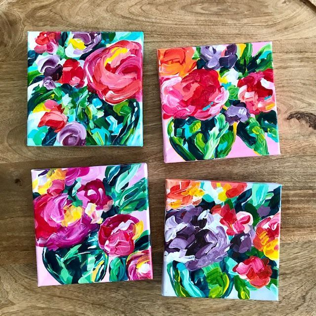 Easy Abstract Flower Painting Tutorials