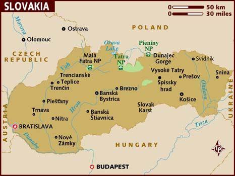 map of #Slovakia