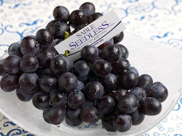 SABLE SEEDLESS® brand black grapes - 15% sweeter than average grapes #InSeason now