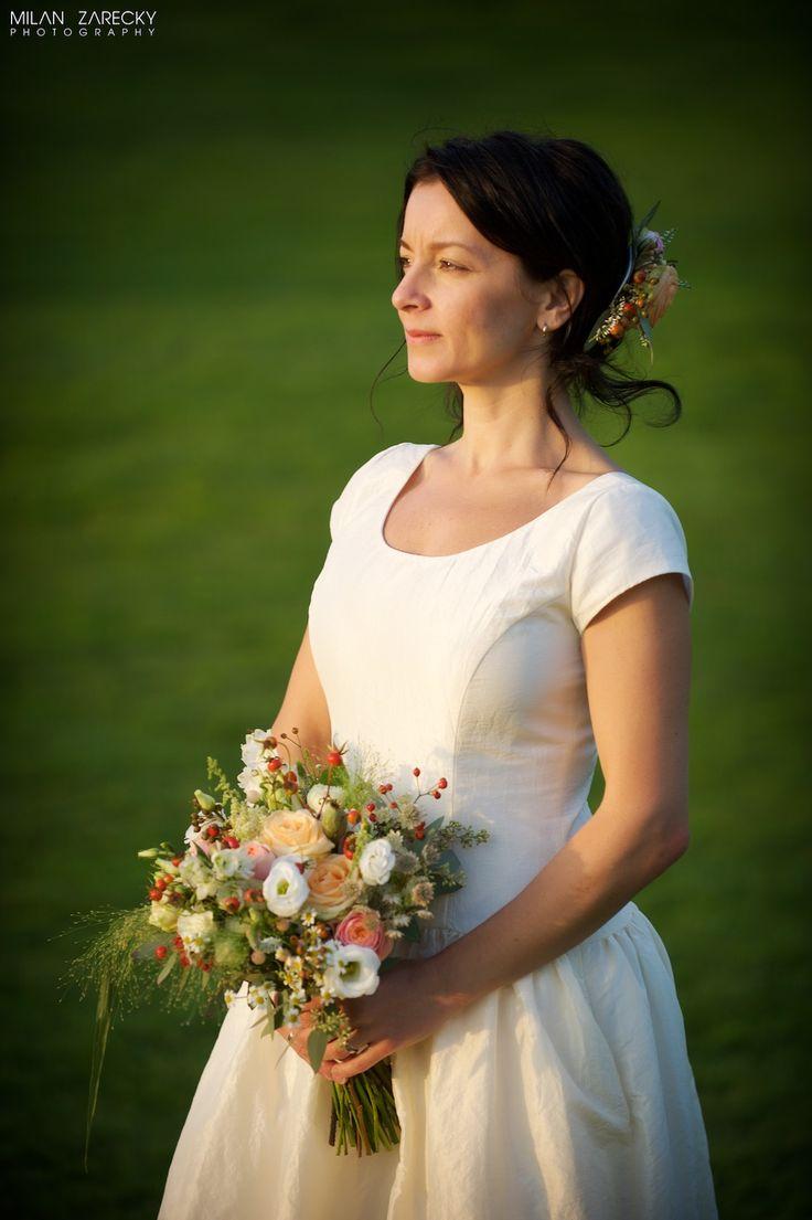 Luční svatební kytice pro Lindu a Karla / od svatební agentury Million Bells
