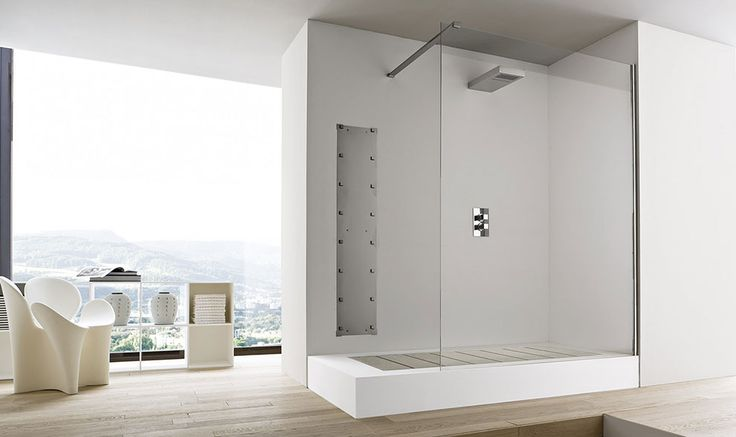 Unico by Rexa Design Studio is more than a collection, it is a program for the bathroom, where modular elements with linear profile are matched with soft and curved elements #design #inspiration #bathroom #bath #materials #Corian® #Korakril™