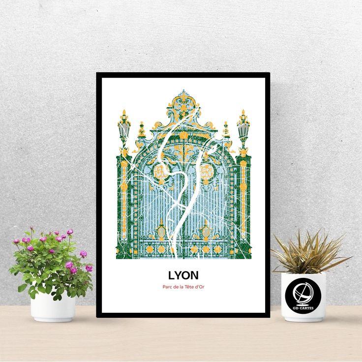 Poster Parc De La Tete D Or De Lyon Carte De Lyon Affiche Art Print Map Impression Deco Ville In 2020 Mural Art Etsy Pins