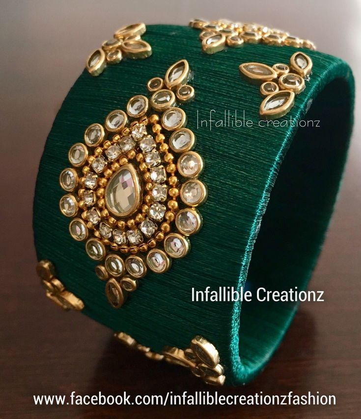 "To order Whatsapp +91 9791090024 For more collections visit ""www.facebook.com/infalliblecreationzsilk"". Silk Thread jewelry, silk thread bangles, silk thread bridal bangles, wedding bangles, Bridal Bangles, engagement bangles, bangles, seemandham bangles, party wear bangles, silk thread jewellery, handmade jewelry, infallible creationz, Silk Thread Kundan Bangles, Kundan Worked Bangles, Raw Silk Bangles, Kundan Bangles, Kada Bangles, Silk Thread jewellery, Designers Bangles"
