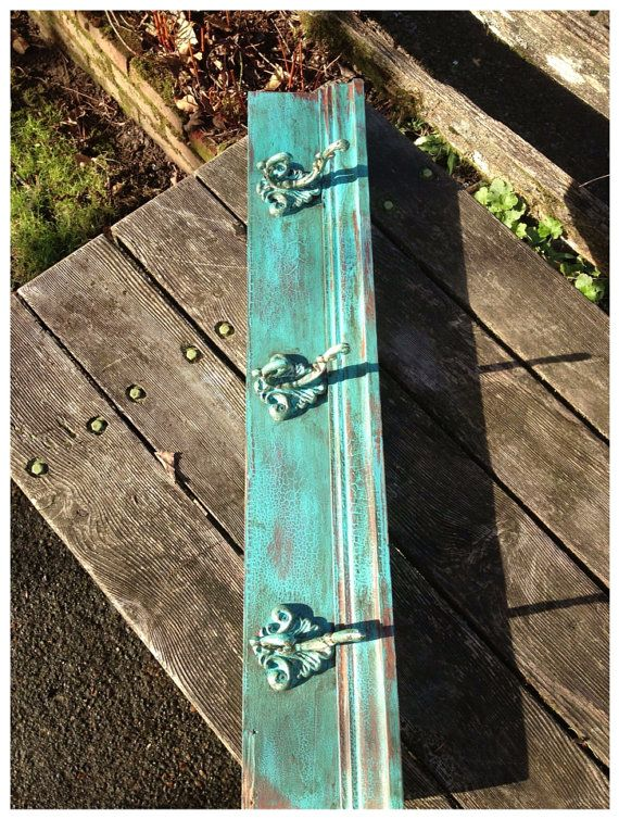 charming cabin coat rack. Hand Painted  Chalk paint Turquoise Coat Rack From Reclaimed Wood Cabin 116 best images on Pinterest racks