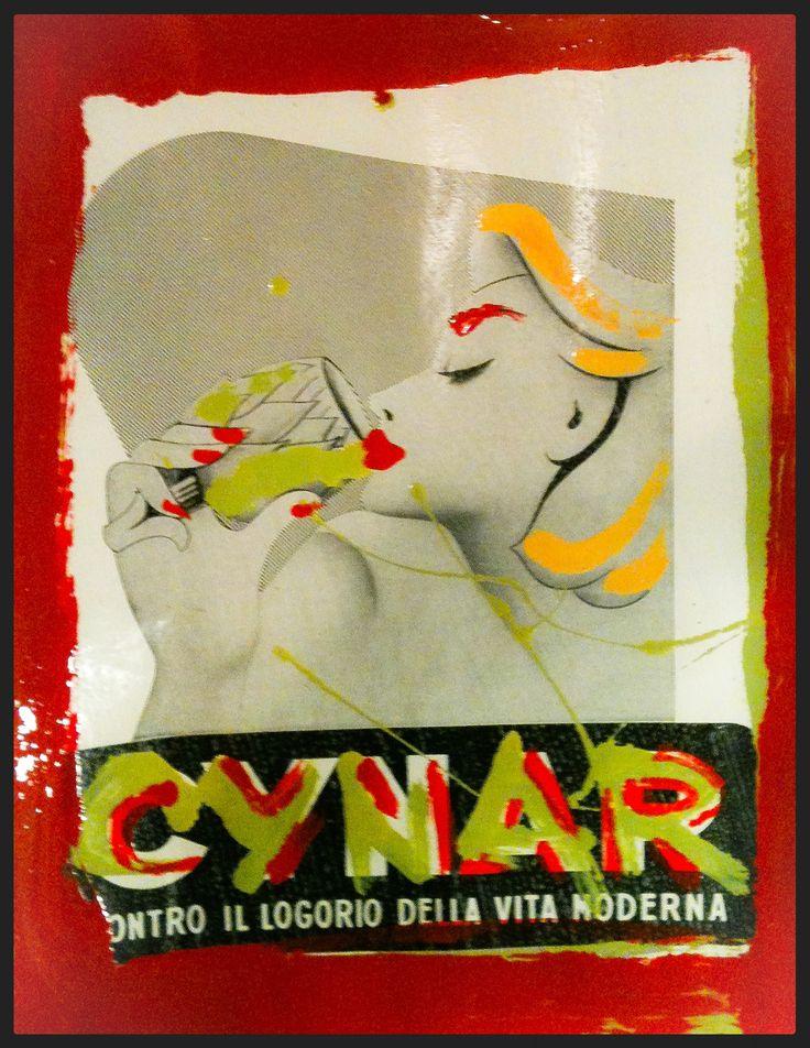 Adv 1952 pop art-Cynar 50x70