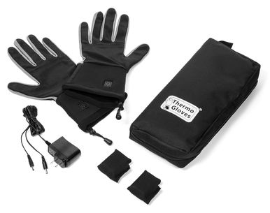ThermoGloves electric gloves use environmentally friendly Lithium Ion batteries that quickly charge and provide regulated even heat for hours. ThermoGloves are the first slim fit flexible heated glove that are slim enough to even fit inside ski gloves, work gloves or motorcycle gloves for added protection and warmth. Use alone as heated winter gloves or as a battery heated liners.