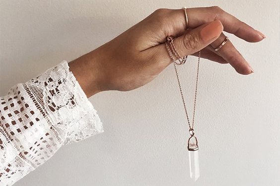 There's an essie nail polish to complement every jewel. We love this Samantha Wills pendant!